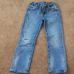 Like New Boys Gap Straight destructed Jeans